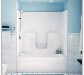 how to clean fiberglass tub shower