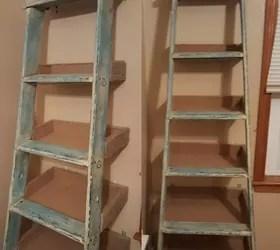 Repurposed Ladder Shelf Project Hometalk