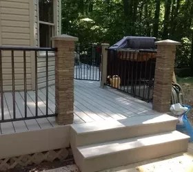 replacing old wooden deck with