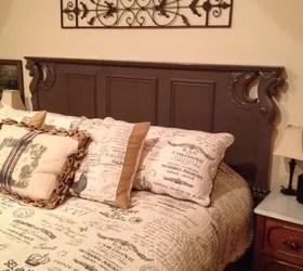 repurposed old sofa turned headboard | hometalk