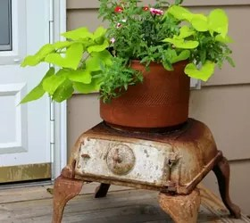 Garden Decorations Made From Junk