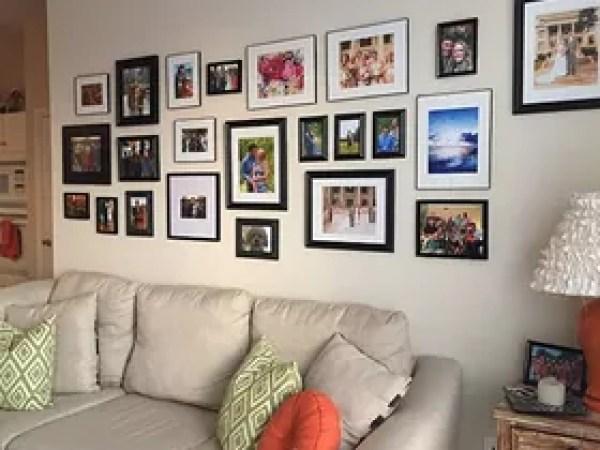Transitional Living Room Inspiration Condo Ideas Silver Velvet Navy Blue Cuch Mirror Gallery Wall