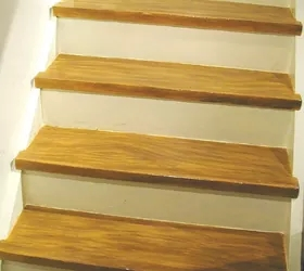 Diy Make Your Painted Staircase Look Like Real Wood Again Hometalk | Wood And Painted Stairs | Diy | Before And After | Striped | Refinish | Oak