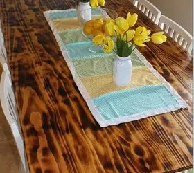 DIY Dining Table With Burned Wood Finish DIY Hometalk