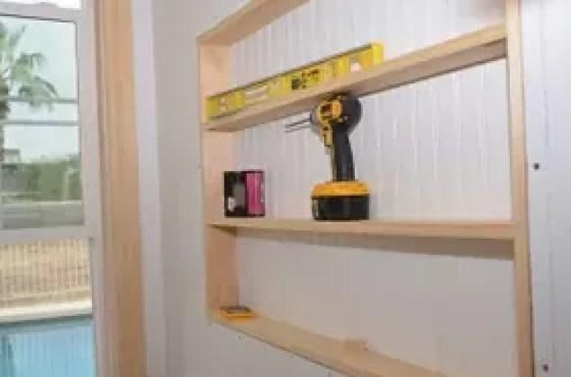 Built In The Wall Shelving Reclaiming Hidden Storage E. Diy Bedroom Shelf Ideas   Bedroom Style Ideas