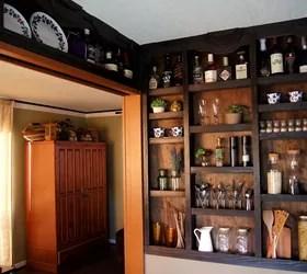 Built-in Kitchen Wall Shelves!