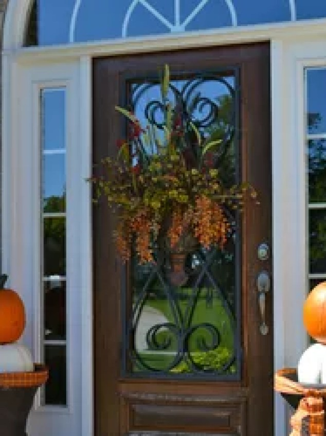 Nested Crates And Pottery Pumpkins With Led Candles String Lights Would Make Your Outdoor Area