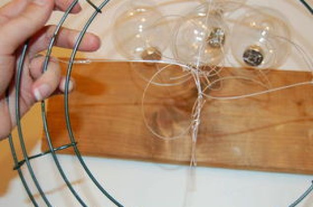 Diy Clear Ornament Hanging Chandelier Christmas Decorations Crafts Repurposing Upcycling Seasonal Holiday
