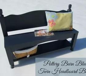 headboard bench with storage shelf | hometalk