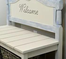 diy twin headboard bench with storage | hometalk