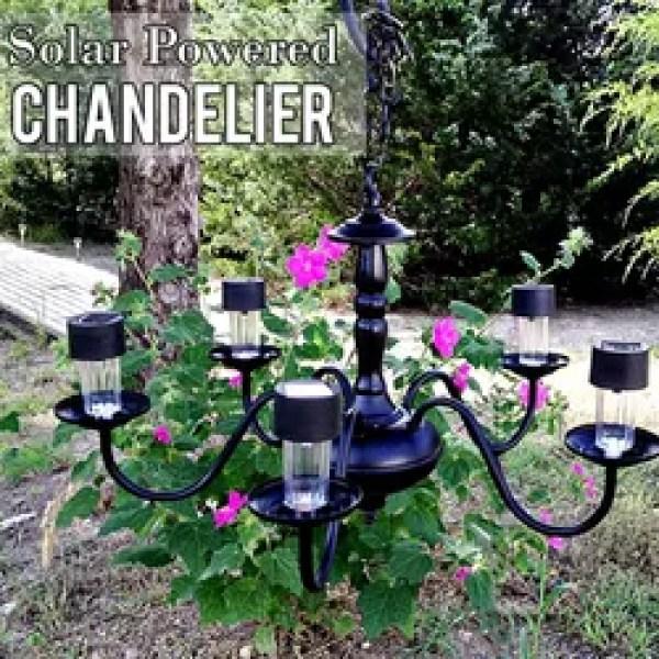 Solar Ed Chandelier Diy Electrical Lighting Outdoor Living