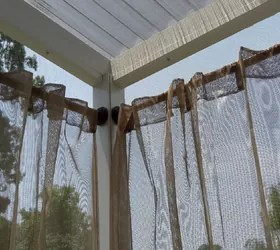 outdoor curtain rods for aluminum