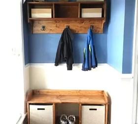 entryway bench and coat shelf hometalk