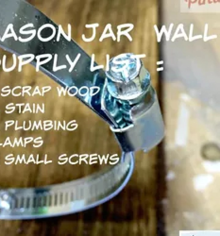 vertical mason jars herb garden, container gardening, gardening, mason jars, repurpose building materials, repurposing upcycling