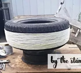 diy tire planter, container gardening, diy, flowers, gardening, repurposing upcycling