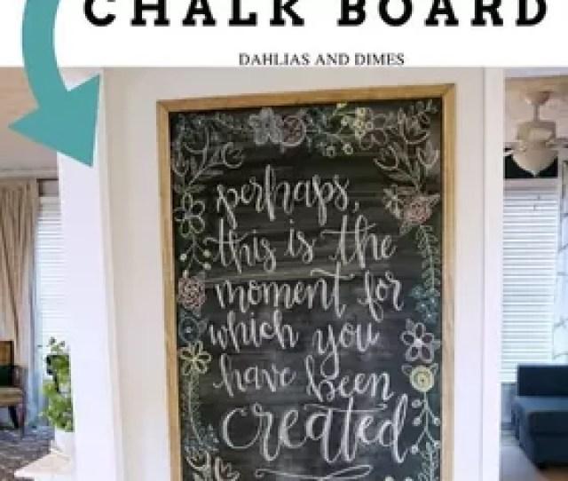 Framed Magnetic Chalk Board Diy