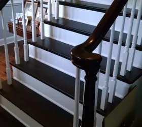 Stair Case Black And White Hometalk | Dark Carpet On Stairs | Gray | Monochrome | Wall | Modern | Metal Bar On Stair