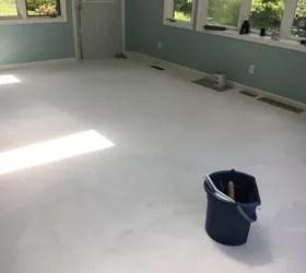 porcelain tile or snap and lock vinyl