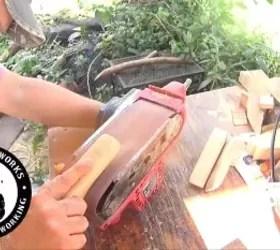 a fun diy bottle opener to make, Another belt sander
