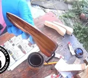 a fun diy bottle opener to make, Staining the handle