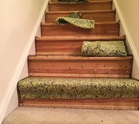 How To Change Stairs From Carpet To Wood Diy Hometalk   Carpet Stairs In The Woods   Wilderness   Open Wooden Stair   Glitter   Country House   Traditional