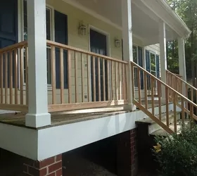 Diy Front Porch Railing Replacement Project Hometalk   Exterior Handrails Near Me   Wire   Iron   Screen   Diy   Post