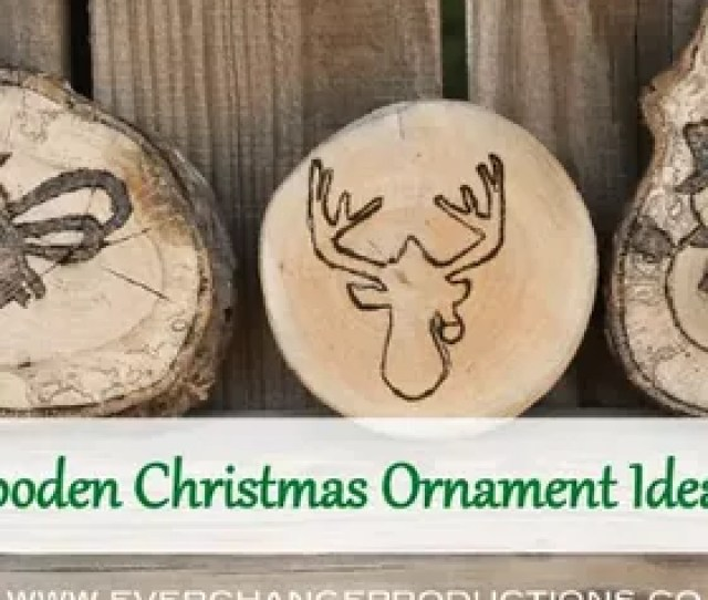Wood Burned Christmas Ornaments