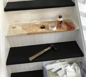 Diy Slip Free Stairs Update Hometalk | Wood Look Vinyl Stair Treads | Shaw Floors | Laminate Flooring | Roppe | Tile | Vinyl Flooring