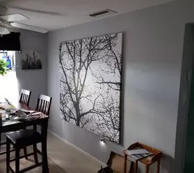 diy stretched fabric wall art from a