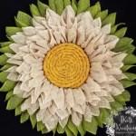 How To Make A Burlap Sunflower Wreath With 6 Inch Burlap Diy Hometalk
