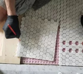 diy vintage inspired hex tile floor part 1