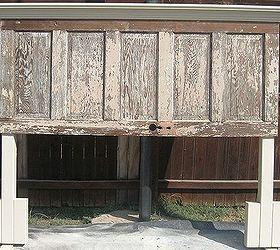 90 year old door made into a headboard | hometalk