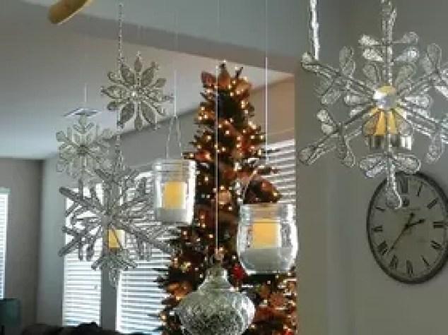 Diy Christmas Ornament And Mason Jar Chandelier Decorations Crafts Jars