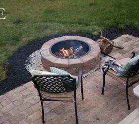 diy paver patio and fire pit hometalk