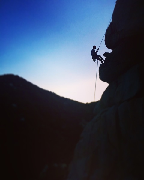 Rock Climbing in Lake Arrowhead Area, San Bernardino Mountains