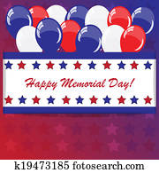 Download Memorial day background Stock Image   k19473660   Fotosearch