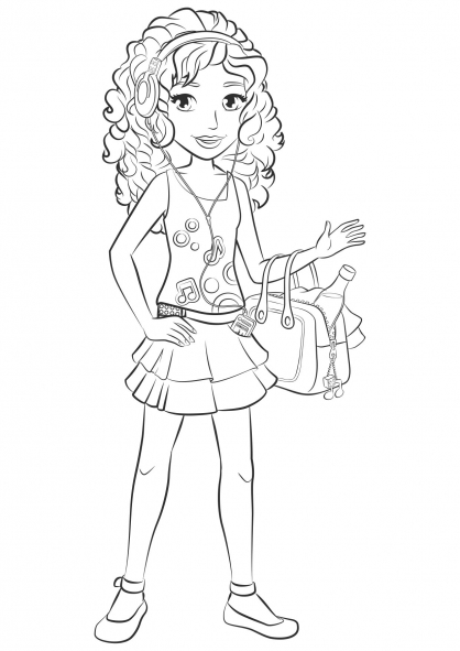 Coloring Pages Lego Friends Lego Friends Wallpaper Images