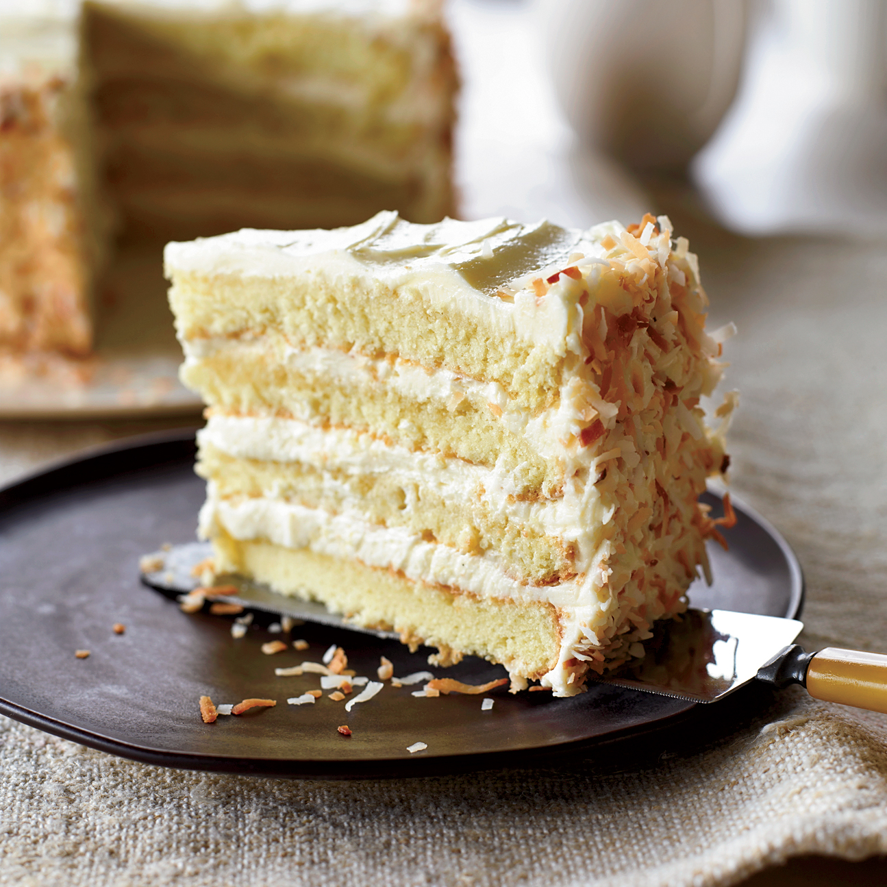 Towering Coconut Layer Cake Recipe Tyler Florence Food