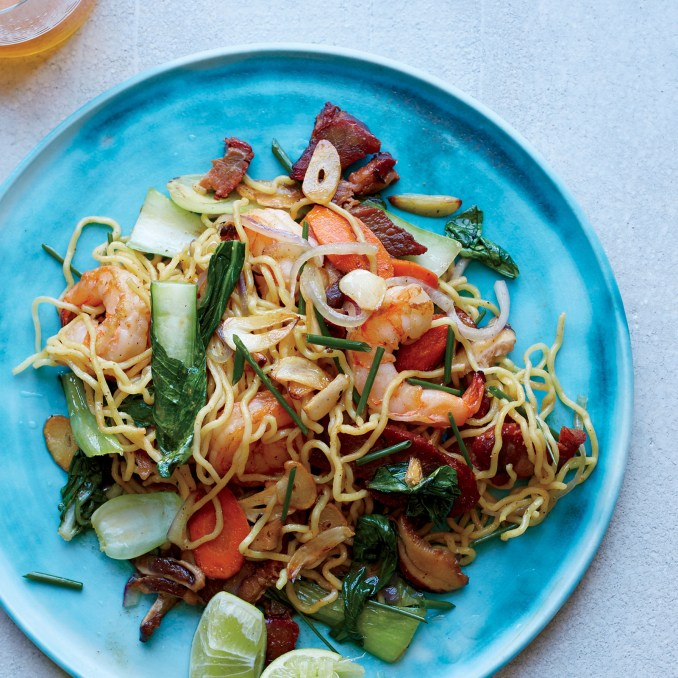 Shrimp-and-Pork Pan-Fried Noodles Recipe - Sheldon Simeon