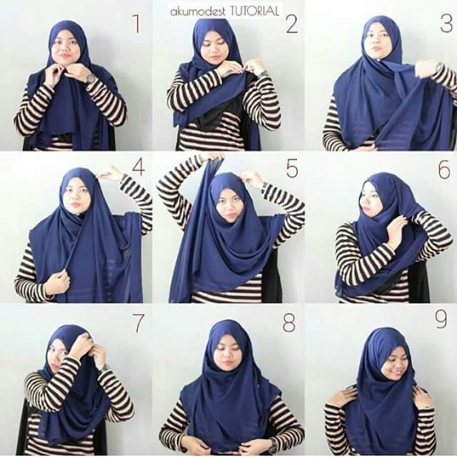 Model Hijab Paris Biasa