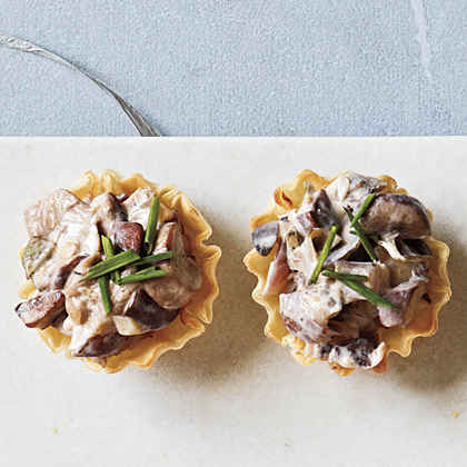 Mushroom and Goat Cheese Cups