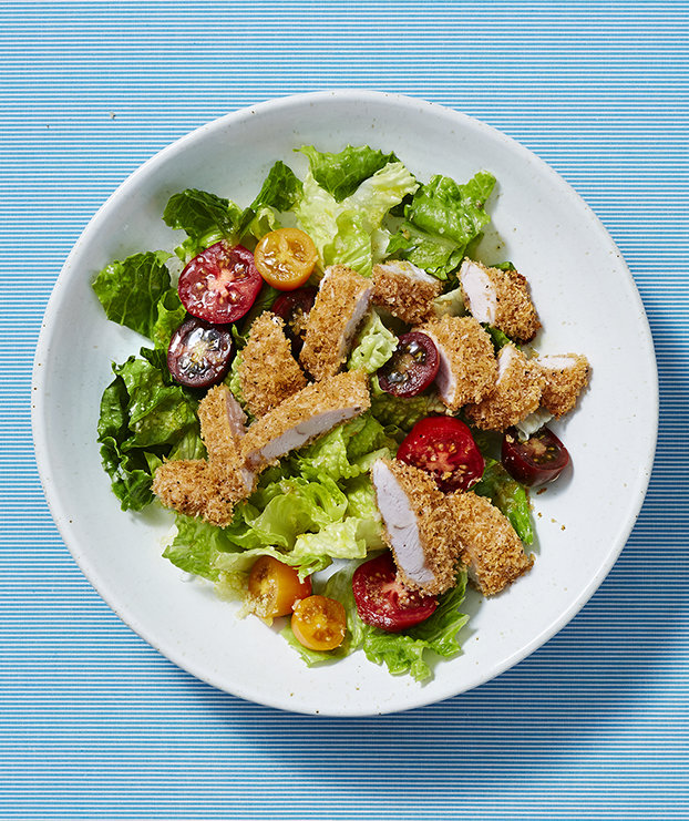 fried-chicken-romaine-salad