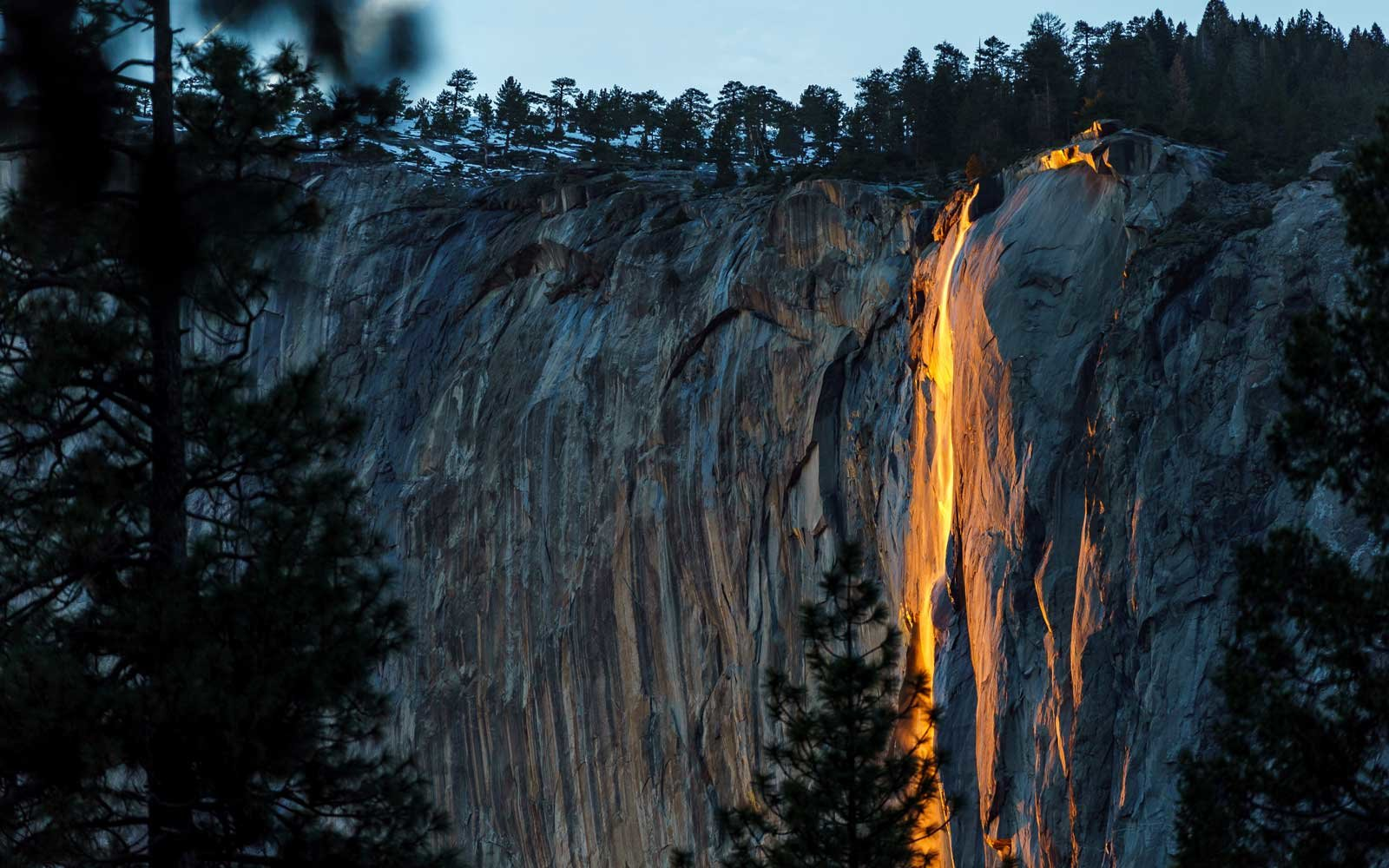 Rare Firefall Makes Its Return To Yosemite For Just A