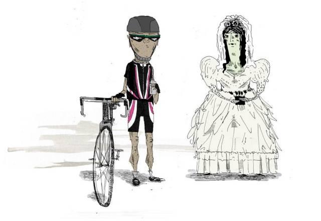 Vampire Bride and Cyclist