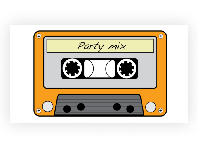 Illustration of a mixtape from the 80s