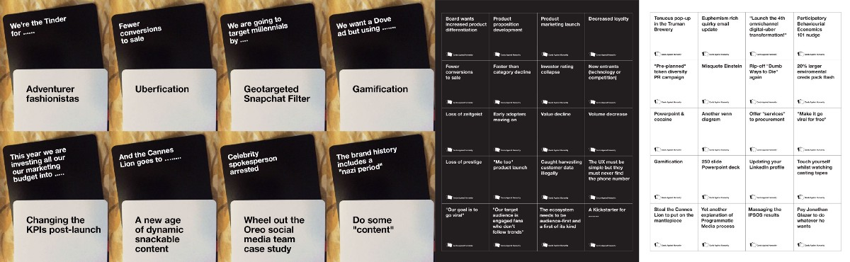Marketing Cards Against Humanity Strategy Vs Tactics
