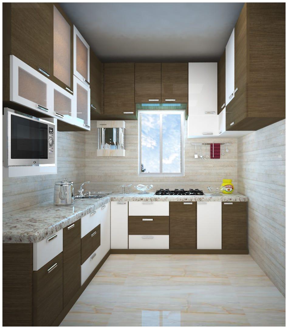 Modern Modular Kitchen Designs India - RS Designs - Medium