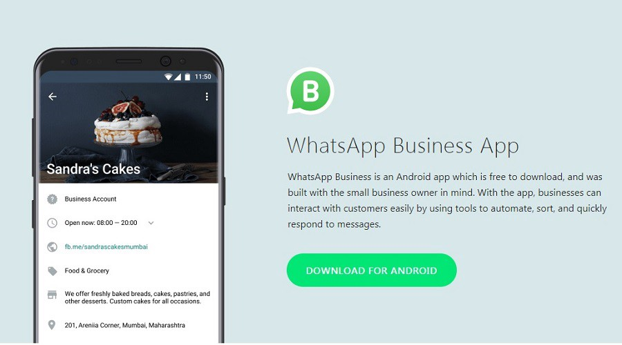 Whatsapp bsuiness on Android