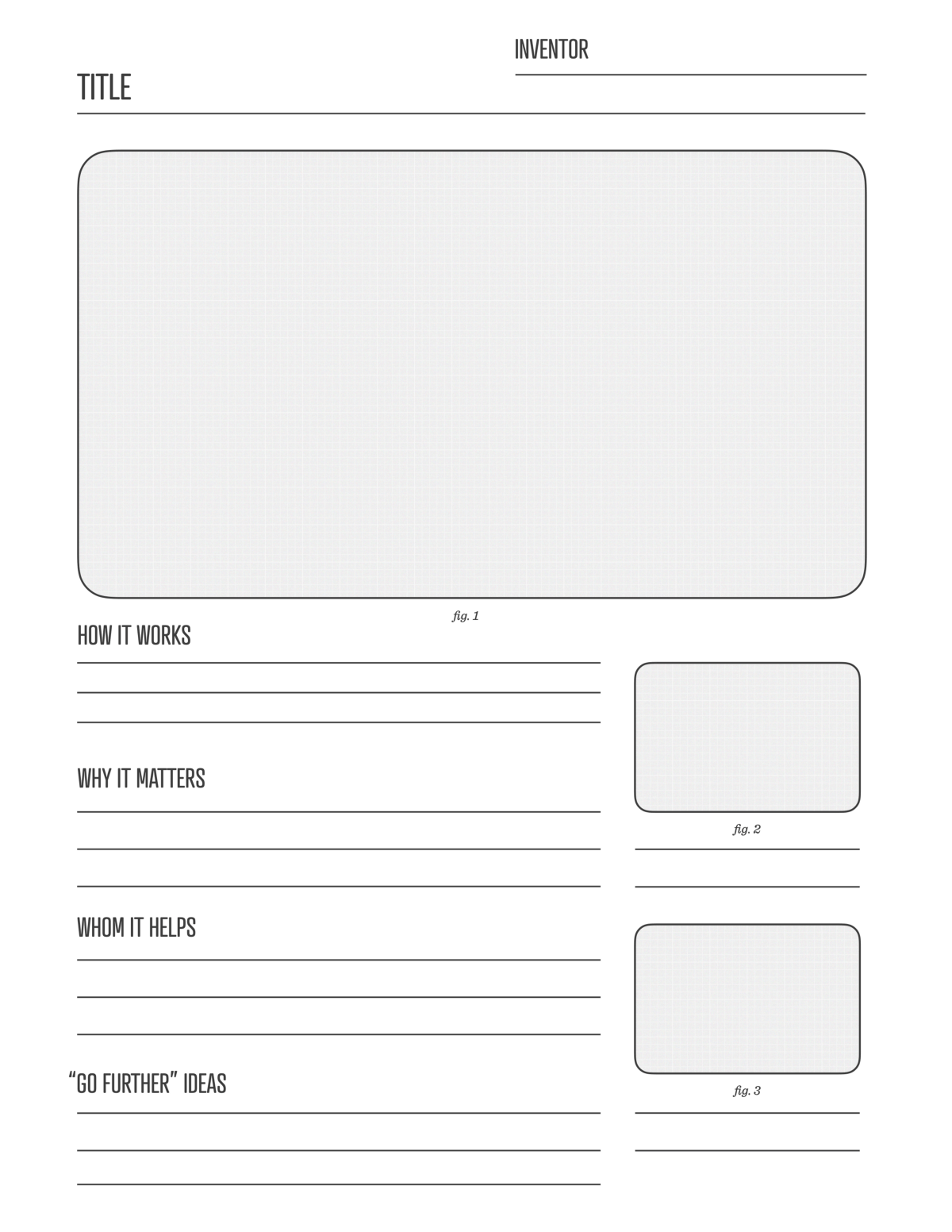 Draw With Your Daughters The Inventor S Worksheet James