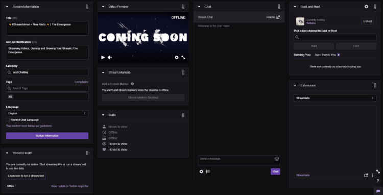 A Guide to the Twitch Dashboard - The Emergence